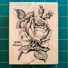 PSX K 023 ROSA Wood Mounted Rubber Stamp Rose Buds Flowers Floral Botanical