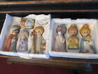 Homco Nativity Scene 8 piece set Mary Joseph Jesus Sheep Shepherd 3 Kings