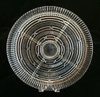 Divided Glass Relish Tray Five Sections Vegetable Dip Ribbed Chain Links Design