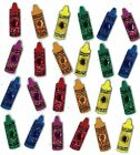 NEW Jolees Boutique Dimensional Stickers GLITTER CRYSTAL Little Crayons 24 pcs