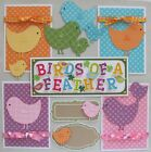 SALE Premade Scrapbook Pages Mat Set Kit BIRDS OF A Sewn Layout pack890