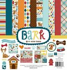Echo Park BARK 12x12 Scrapbook Kit Dog Pet Puppy Papers + Stickers