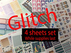 Glitch Opps Planner stickers 4 Sheet Set Functional Erin Condren stickers