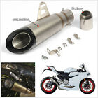 38-51mm Universal Motorcycle Exhaust Muffler Tip Pipe Silp On Modified Silencer