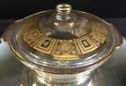 Culver--2 QT. Casserole--Covered in Gold--Pyrex....Ready for the Party--BUY IT