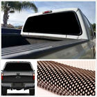 22x 65 Large Black Truck Van Rear Window Perforated Decal Tint Graphic Sticker