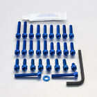 Pro-Bolt Aluminium Engine Bolt Kit - Blue EKA231B Kawasaki ZXR750 L 93+