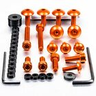 Pro-Bolt Aluminium Fairing Bolt Kit - Orange FHO063O Honda CBF600S 08-09