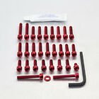 Pro-Bolt Aluminium Engine Bolt Kit - Red EKA231R Kawasaki ZXR750 L 93+