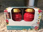 The Pioneer Woman Salt and Pepper Shakers Tinsel Red Gold Stoneware New