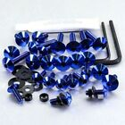 Pro-Bolt Titanium Fairing Bolt Kit - Blue FHO063TIB Honda CBF600S 08-09