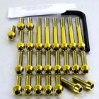 Pro-Bolt Titanium Engine Bolt Kit - Gold EHO014TIG Honda XLR125R 97-02