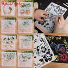 9PCS SET Stamp Embossing Template Wall Painting Layering Stencils Scrapbooking