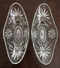 Set Of 2 Vintage Glass EAPC Star Of David Design Banana Split Sundae Dishes Bowl