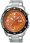 J. Springs Made in Japan by Seiko Men's Automatic World Travel Watch Orange NEW