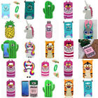 Cute Cartoon Silicone Rubber Back Case Cover For Samsung Galaxy S8+ Note 8 J3 5