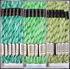 36x Needlepoint Embroidery THREAD Anchor Cotton Pearl 5 Greens FL50