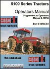 Case IH 5100 5150 Series Maxxum Tractors Operators OP Owner HandBook Manual CD