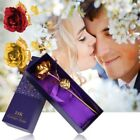 24K Gold Plated Rose Flower Mothers Day Gift Party Wedding Birthday US SHIP