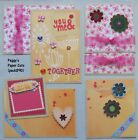 Premade Scrapbook Pages Mat Set Kit YOU  ME Sewn Paper Album Layout pack890