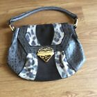 roberto cavalli leather and suede bag