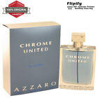 Chrome United Cologne 3.3 3.4 1.7 6.8 oz EDT Spray for MEN by Azzaro NEW