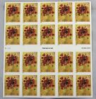 Love Bouquet Flowers US 37 Cents Full Sheet of 20 Stamps Unused 2004