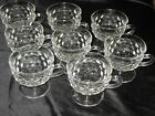 Lot of 8 Vintage Indiana Whitehall Footed Punch Cups