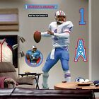 Warren Moon Houston Oilers Life Size Fathead Wall Decal - NEW in box! over 6 ft