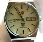 rado day date green horse men's vintage watch 1970's