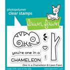 Lawn Fawn One in a Chameleon Stamps LF1549 or Dies LF1550