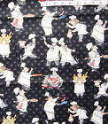 Chefs on Black MangiaMangia Cotton Quilt Fabric by Stephanie MarrottWilmington