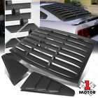 Black Rear+Side 1 4 Window Louvers Sun Shade Cover Vent for 05 14 Ford Mustang