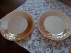 Set of 2~Vintage FIRE KING Laurel Leaf Peach Luster Dinner Plates 9