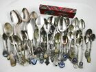 Lot of over 50 Silver Plate Souvenir Spoons Various Themes And Sizes