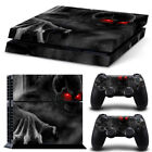 Skull  PS4 Skin Play Station 4 Vinyl Protective Sticker for Console Controllers