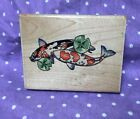 POND AFFECTION Mounted Wooden rubber stamp STAMPABILITIES