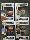 FUNKO POP TELEVISION DUCK DYNASTY UNCLE SI PHIL WILLY JASE Set Of 4 NIB