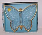 Jeannette Glass Company Butterfly Candy Dish (decorated 22 kt. gold) with box