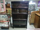 Mahogany 4 Stack Barrister Stacking Bookcase with Top and Bottom