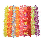 60Pcs Lei Flower Garland Necklace Hawaiian Tropical Beach Pool Party Dress Bling