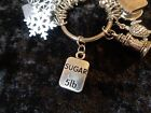 Lost 5 pounds 5lb Sugar Weight Loss Charm for Weight Watchers Keychain