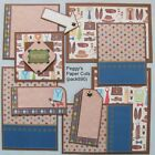 Premade Scrapbook Pages Mat Set Kit FATHER Sewn Fathers Day Layout pack890