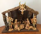 Fontanini 1983 Nativity set Depose ItalyLighted Creche Spider Mark Christmas 10p