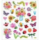 Scrapbooking Crafts Stickers Spring Flowers Bugs Bees Ladybugs Sunflowers Hearts