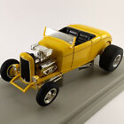 Yellow 32 Ford Street Rod 118 Ertl American Muscle diecast with box