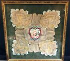 VICTORIAN VALENTINE--FRAMED--SO LOVELY--# 2 OF 2 TO BE LISTED--BUY IT NOW!