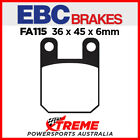 Beta RR Motard Alu 50 04-08 EBC Semi Sintered Rear Brake Pads, FA115V