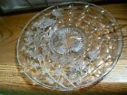 Large Indiana Glass Silver Overlay Clear