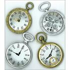 Scrapbooking Crafts Stickers Jolees Vintage Pocket Watches Clocks Gold Silver